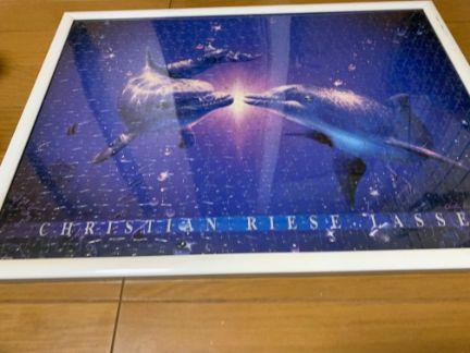 ラッセン・イルカのジグソーパズルを撮影した写真