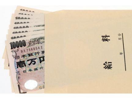 給料袋から札が出ている写真