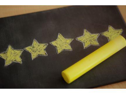 星印を書いた評価のイメージの写真