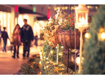 クリスマス風景の街の写真