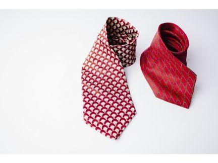 ネクタイが2本並んだ写真