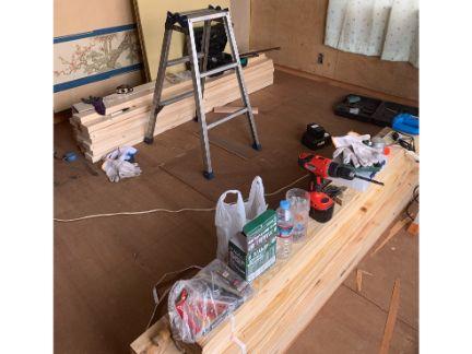 工具・材料を揃えた写真